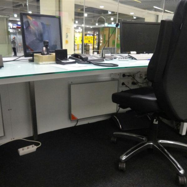 Balieverwarming kantoor