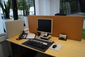 Mobiele verwarming bureauscherm