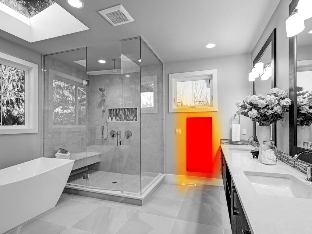 Infrarood Panelen Badkamer : Infraroodverwarming in de badkamer heatfun infraroodverwarming