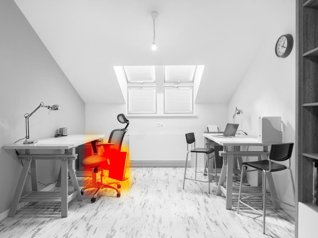 Infraroodverwarming werk- en studeerkamer - HeatFun infraroodverwarming