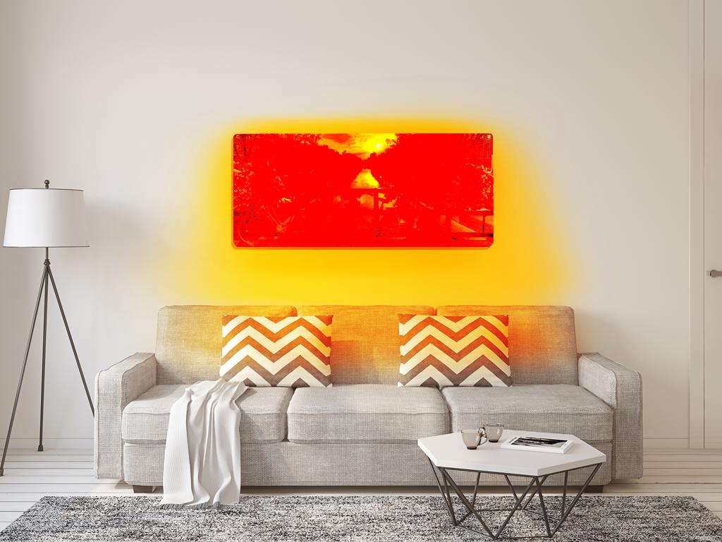Infraroodverwarming woonkamer - HeatFun infraroodverwarming