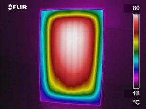 Warmtebeeld infrarood stralingspaneel