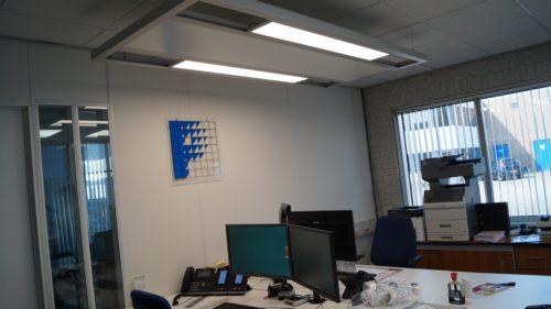 Bureau eiland infrarood verwarming met LED verlichting