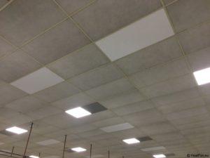 Infraroodpanelen in systeemplafond