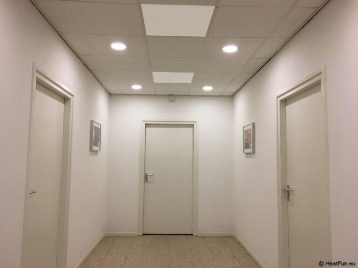 Bijverwarming van gangen kantoren