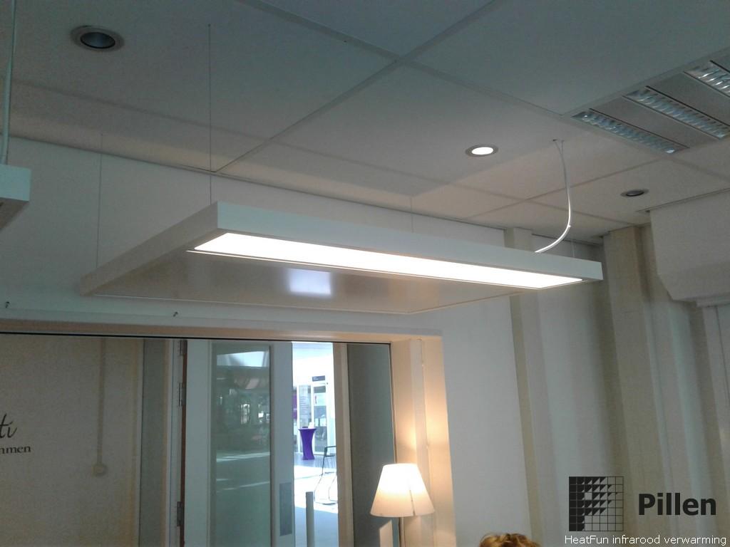 Werkplek verwarming infrarood paneel