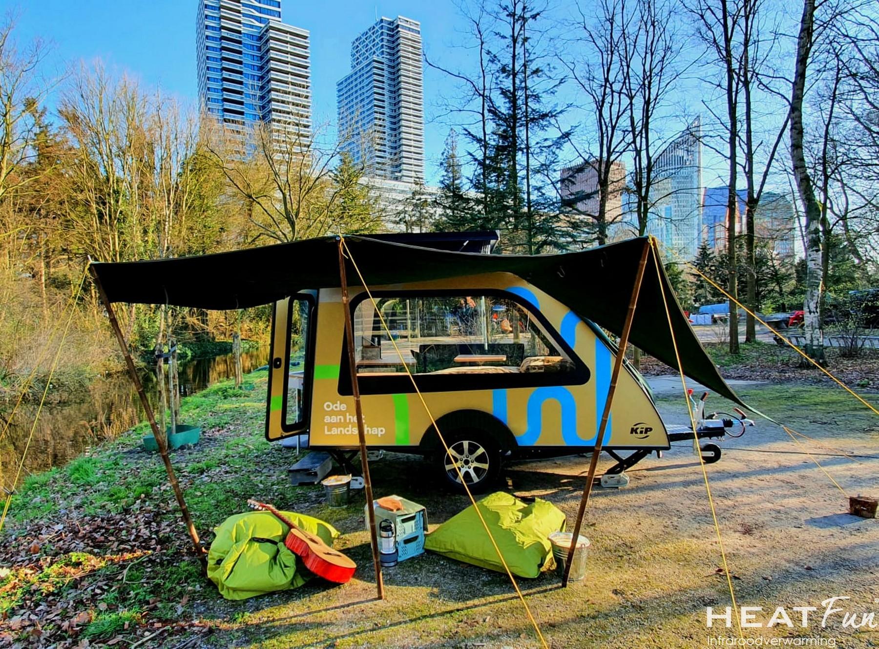 Kip Caravan In Den Haag HeatFun Kamperen In Stad Infraroodverwarming